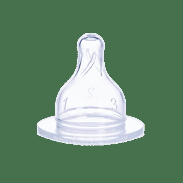 tétine avec différent débit pour biberon de taille M